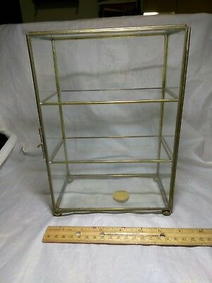 "Vintage Glass Display Case "" Balos International"" 9.5"" X 6.75"" X 3.75"" Inches"