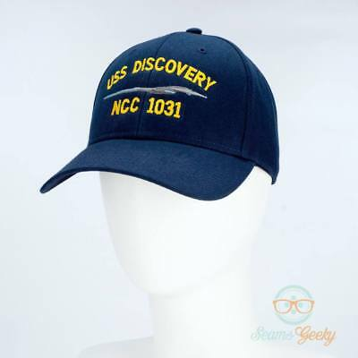 e5529800537 Star Trek Hat - Discovery - USS Discovery - Embroidered Baseball Cap -  Naval Hat