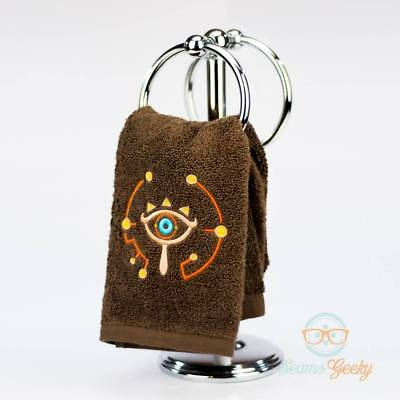 Legend of Zelda Hand Towel - Breath of the Wild - Sheikah Slate - Embroidered To