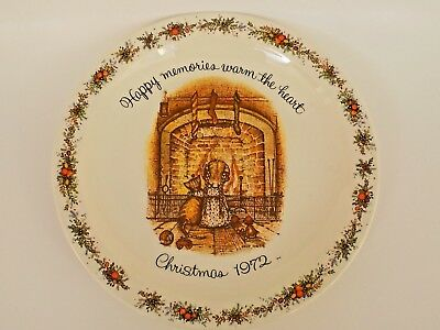 Holly hobbie plate commemorative edition *christmas 1972* made in.
