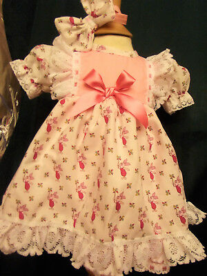 DREAM BABY GIRLS DISNEY PIGLET  LINED  DRESS & HBD 0-2 years OR REBORN DOLL
