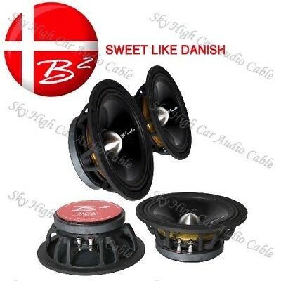 "1 B2 Audio 8"" Rage PWR Pro Audio 250W Max 8"" Midrange Speakers  4 Ohm"