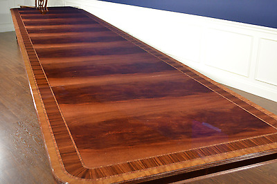 Leighton Hall Large Banquet Traditional Mahogany Dining Table 16 ft.