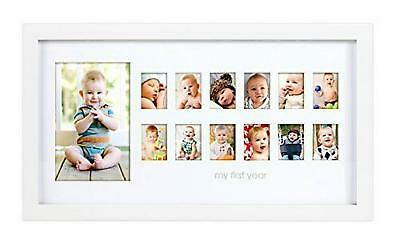 Pearhead My First Year Photo Moments Baby Keepsake Frame (White) Free Shipping!