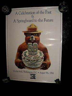 U.S. Forest Service Smokey The Bear 50th Birthday Poster