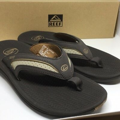 9a5762dd746 REEF MEN S 2444 Flex Brown Flip Flop Outdoor Sandal Size 7 New With ...