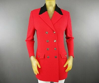 ST. John Collection By Marie Gray Red Size 4 Long Blazer Vintage Formal Work