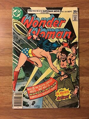 Wonder Woman #235 (DC 1977) Dr. Mid-Nite~Garcia Lopez/Colletta~Bronze Age~Movie!