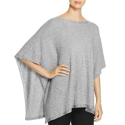 af5920740f1 Eileen Fisher Womens Gray Bateau Neck Open Sides Poncho Sweater M/L BHFO  5731