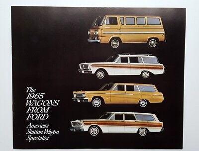 1965 Ford Car Sales Brochure Catalog Station Wagons Vans Fairlane Falcon