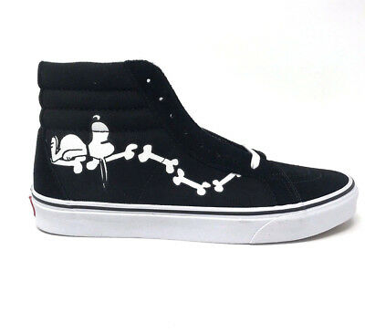 a5f306f8f8f764 VANS SK8 HI Peanuts Snoopy Bones Black Men s 11.5 Skate Shoes New ...