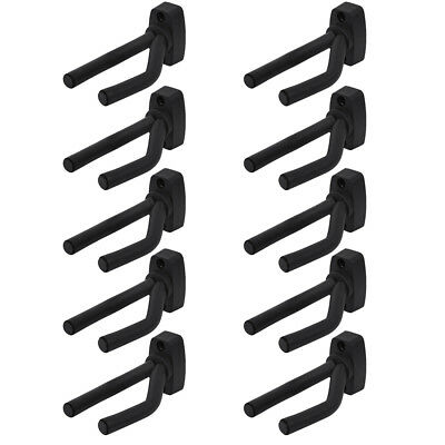 10 Pcs Guitar Bass Hanger Hook Holder Wall Mount Display Instrument Stands Racks