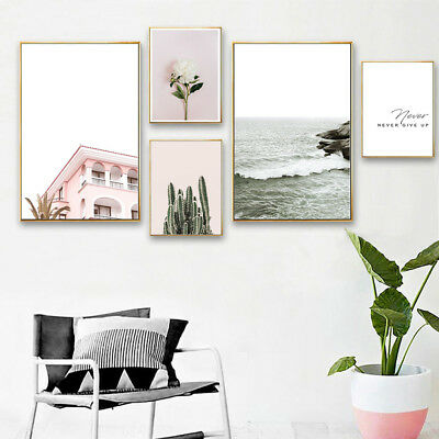 Landscape Canvas Poster Nordic Wall Art Print Painting Living Room Decoration