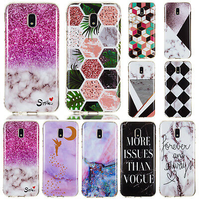 For Samsung Galaxy J3 J5 J7 2016 2017 Slim Soft Silicone Painted TPU Case Cover