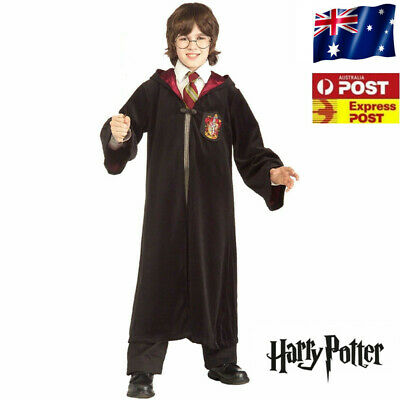 Book Week Harry Potter Kids Gryffindor Robe Costume Scarf Tie Glasses Wand S-XL