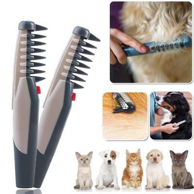 Electric Pet Cat Grooming Comb Trimmer Knot Out Tangles Brushes Supplies ES
