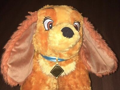 Disney Parks Authentic Lady and the Tramp Pillow Pet Pal 20x20 VGUC