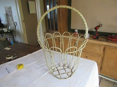 """Vintage Large Wrought Iron Planter Basket 26"""" Tall 17"""" Dia.    Lot 18-68-12-A"""