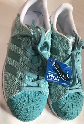 Adidas Superstar Bounce Tennis Shoes Womens BB2294 Easmin Aqua 8.5 New