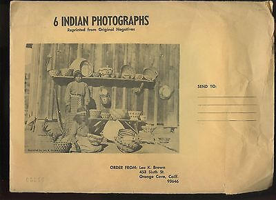 6 Indian Photographs from Orig Negatives Leo K. Brown 1968 SW Native American