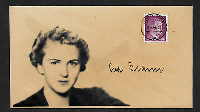 Eva Braun Collector's Envelope with genuine 1941 Hitler Postage Stamp *596OP