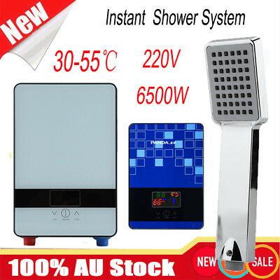 6000W Instant Hot Electric Water Heater Portable Shower Camping Hot Water System