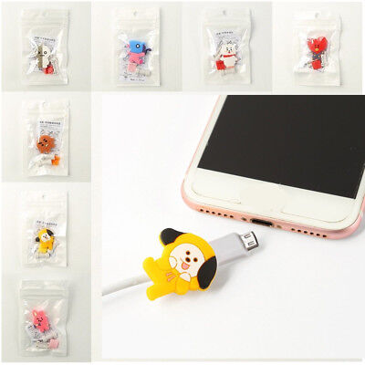 KPOP Bangtan Boys Cute Phone Charge Cable Conector Protector COOKY VAN TATA New