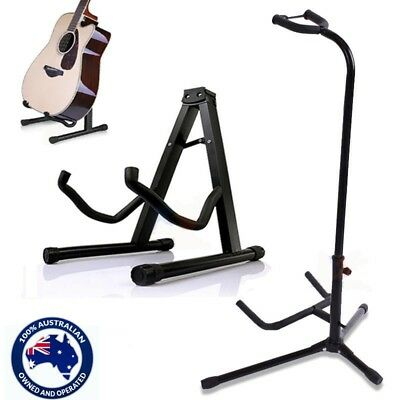 Portable Folding Electric Acoustic Bass Guitar Tripod Stand Floor Rack HolderA/B