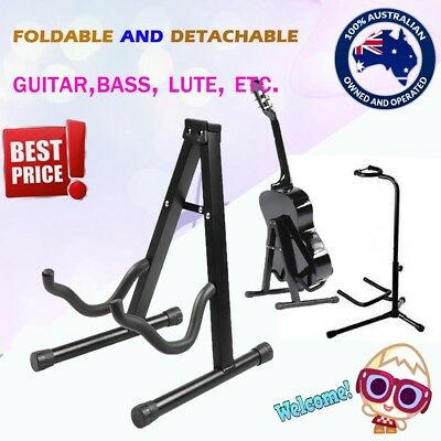 New Portable  Folding Guitar Stand Electric Acoustic Bass Floor Rack Holder A/B
