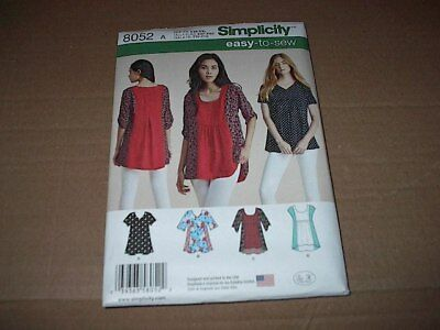 6ee5d9b3a8eae Simplicity Pattern 8052 Misses  Easy-to-Sew Tops w  Sleeve Variations XXS