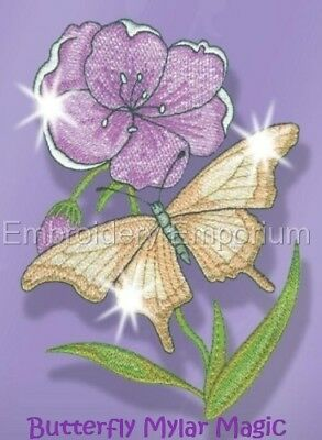 Butterfly Mylar Magic Collection - Machine Embroidery Designs On Cd