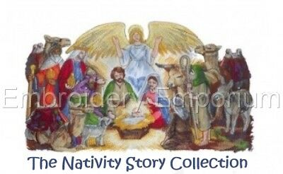 The Nativity Story Collection - Machine Embroidery Designs On Cd