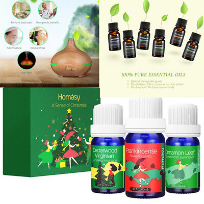 150ML Aroma Diffuser Humidifier w/10ml Aromatherapy Essential Oils Xmas Gift Set