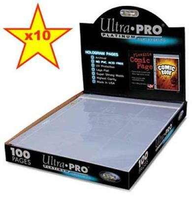 10 x Ultra Pro Current Silver Comic Book Resealable Flexible Page Binder 3 Hole