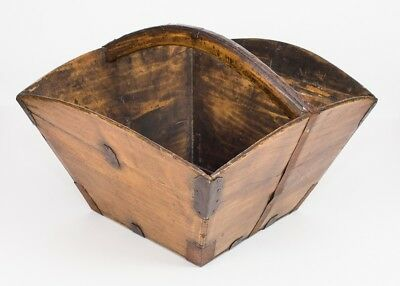 19th Century Wooden Carrying Trug - Attractive Shape & Patina