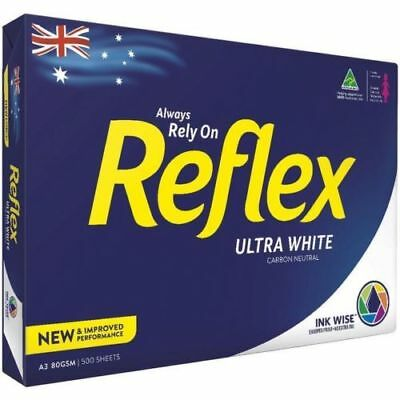 Reflex A3 Ultra White Copy Paper 80gsm 500 Pages Sheets Ream Free Post