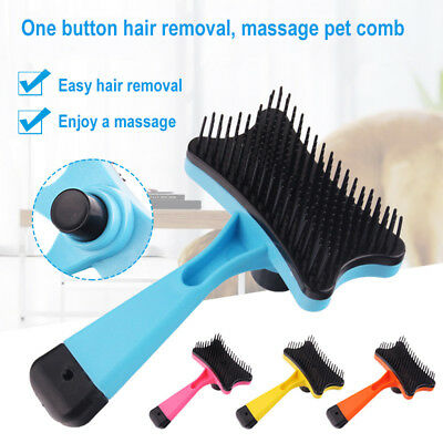 Pet Dog Cat Puppy Hair Shedding Grooming Trimmer Fur Comb Slicker Brush