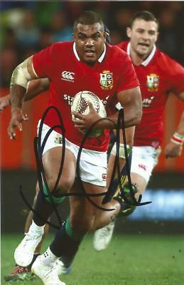BRITISH LIONS & ENGLAND RUGBY UNION: KYLE SINCKLER SIGNED 6x4 ACTION PHOTO+COA