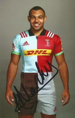 HARLEQUINS RUGBY UNION: JOE MARCHANT SIGNED 6x4 PORTRAIT PHOTO+COA