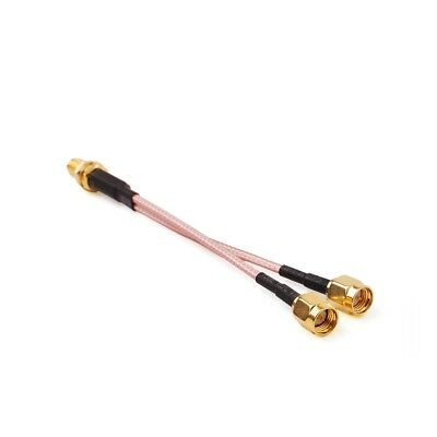SMA Female to 2X SMA male RF coaxial cable Y type splitter pigtail RG316 50cm