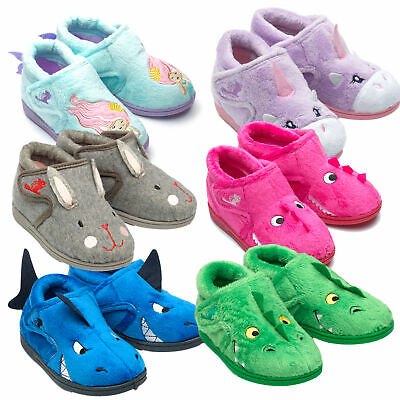 Boys/Girls Chipmunks Infants Kids Animal 3D Bootee Soft Slippers Sizes 4 to 12
