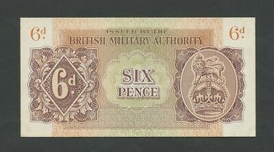 BRITISH MILITARY AUTHORITY  6d  WWII  Krause M1  Uncirculated  Banknotes