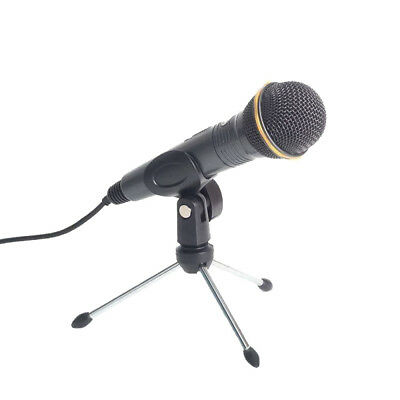 Adjustable Mini Tripod Desktop Table Microphone Stand Holder with Mic Clip Black