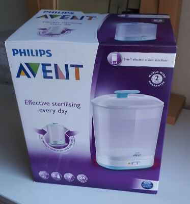 Philips Avent 2-in-1 Electric Steriliser in original box and clean condition