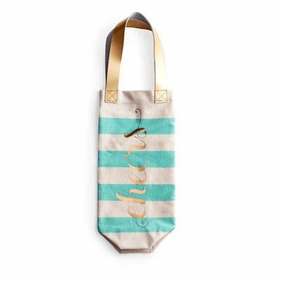Cheers Cotton Wine Spirit Bottle Tote Bag designed by Rosanna Inc