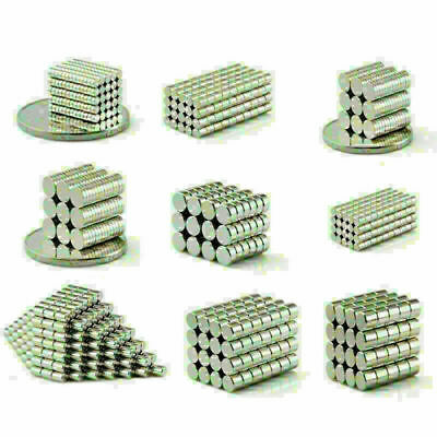 Small N50 Neodymium Magnets Round Disc 2mm 3mm 4mm 5mm 6mm 7mm 8mm 9mm Magnet