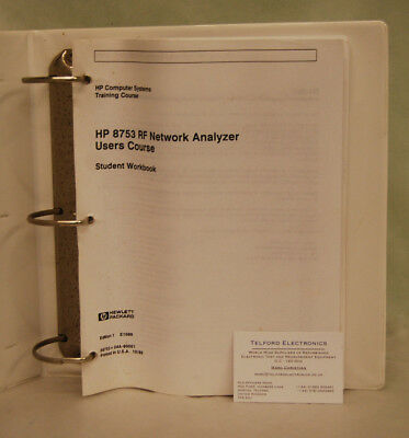 HP8753 RF Network Analyzer Users Course Student Book