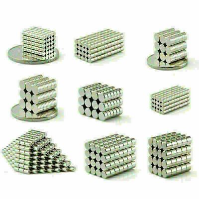 Small Magnets N50 Neodymium Round Disc Cylinder Magnet 2mm-9mm
