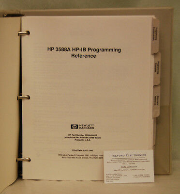 HP3588A HP-IB Programming Reference
