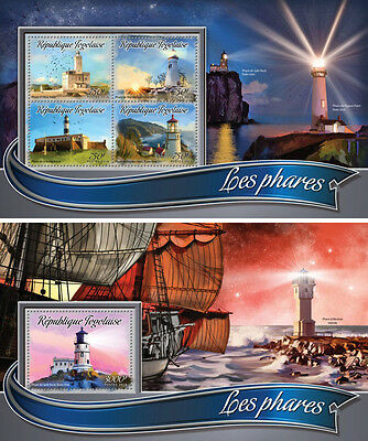 Lighthouses Architecture Togo MNH stamp set 2 sheets